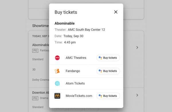 Google Duplex per prenotare i biglietti dei cinema