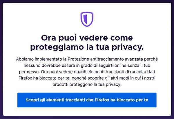 Firefox 70: lotta al tracking degli utenti