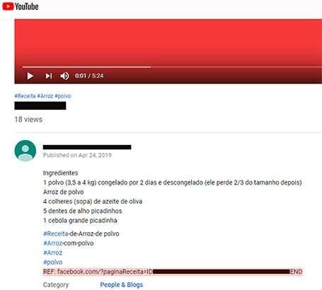 Il link verso il server C&C di Casbaneiro nascosto nella descrizione di un video su YouTube