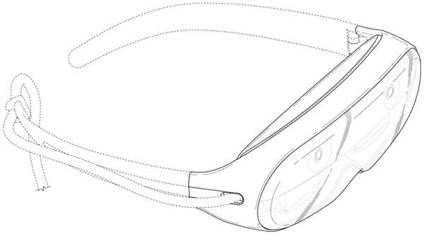 Una bozza per il design del dispositivo Samsung dedicato alla realtà aumentata