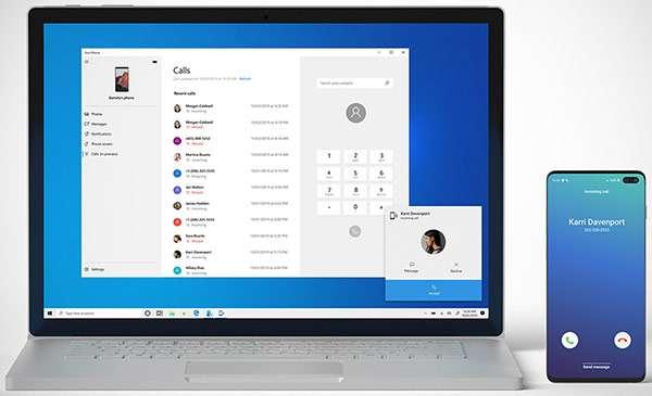 Windows 10 20H1 porta le telefonate Android su PC