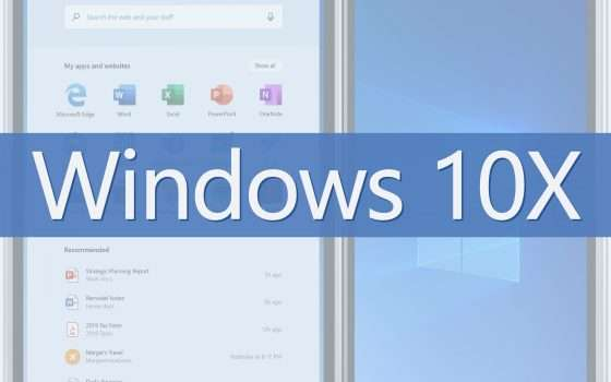 Windows 10X: ecco W10 in salsa dual screen