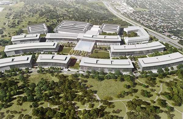 Il nuovo campus Apple di Austin, in Texas