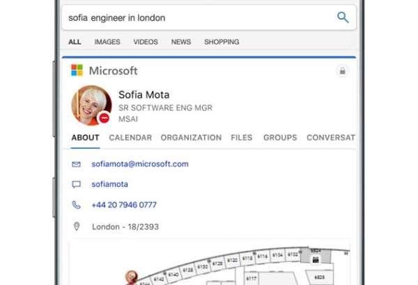 Bing e Microsoft Search su smartphone