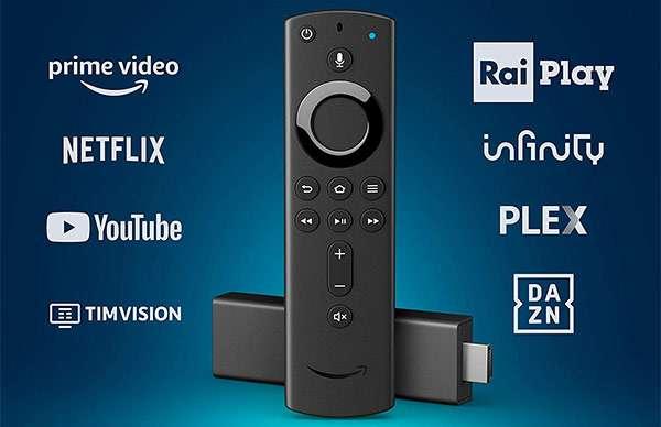 Il dongle Fire TV 4K di Amazon da connettere alla TV