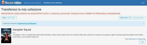 Flixster Video: migrazione contenuti verso Google Play