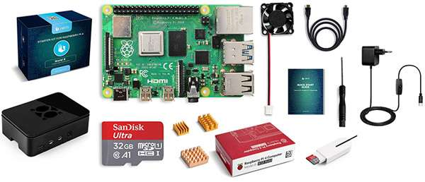 Il kit di Raspberry Pi 4 Model B 4 GB proposto da LABISTS
