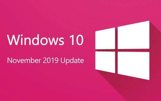 Windows 10 November 2019 Update è in download