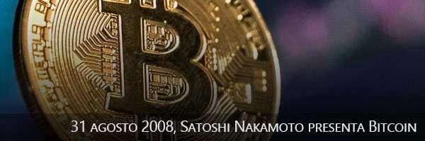 31/10/2008, Satoshi Nakamoto presenta Bitcoin