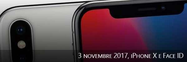 03/11/2017,iPhone X e Face ID