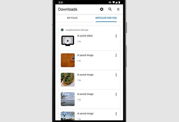 La nuova gestione dei download di Chrome 80 su mobile