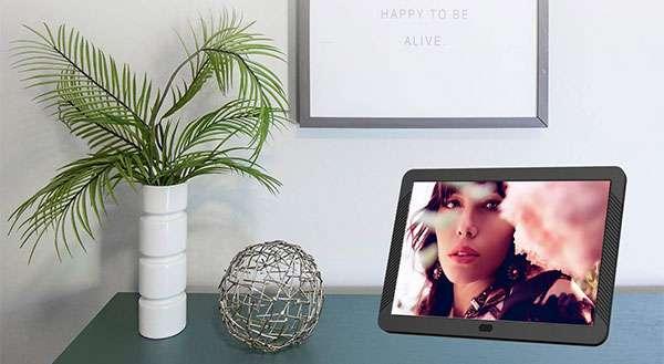 La cornice digitale Melcom da 8 pollici con schermo Full HD