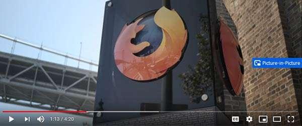 La modalità Picture-in-Picture per i video di Firefox