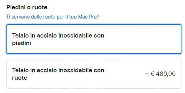 I prezzi del nuovo Apple Mac Pro