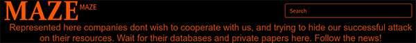 Il messaggio che apre il sito pubblicato dagli autori del ransomware Maze