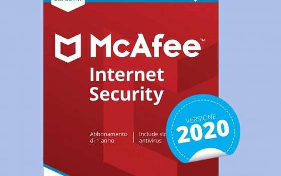McAfee Internet Security 2020 a € 8,99 su Amazon