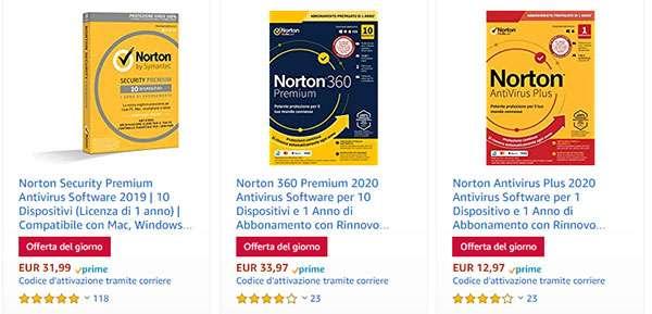 Le offerte di Amazon sul software Norton per il Cyber Monday