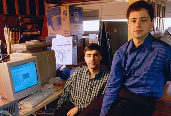 Larry Page e Sergey Brin all'inizio dell'avventura Google