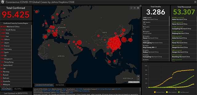 La mappa del contagio da COVID-19 aggiornata al 05-03-2020