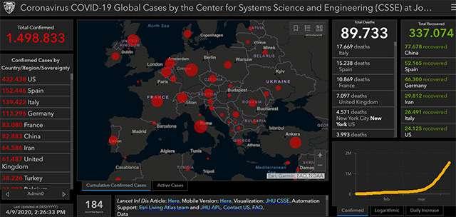 La mappa del contagio da COVID-19 aggiornata al 09-04-2020