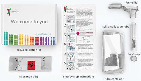 Il contenuto del kit venduto da 23andMe