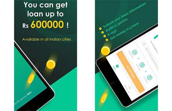 Screenshot per CashBean, una delle applicazioni del gruppo per i prestiti