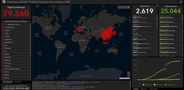 La mappa aggiornata con i numeri del contagio