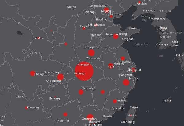 La diffusione e le vittime del coronavirus in una mappa