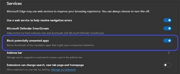 La nuova funzionalità di Edge per bloccare il download dei contenuti potenzialmente pericolosi