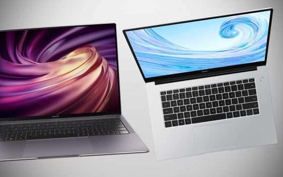 Tre nuovi laptop Huawei Matebook in Italia
