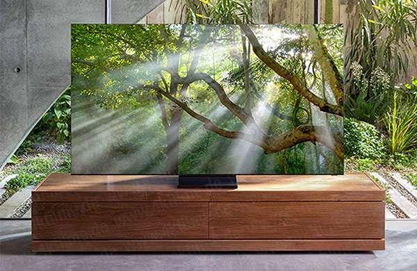 Il TV 8K di Samsung con pannello QLED di tipo Zero Bezel