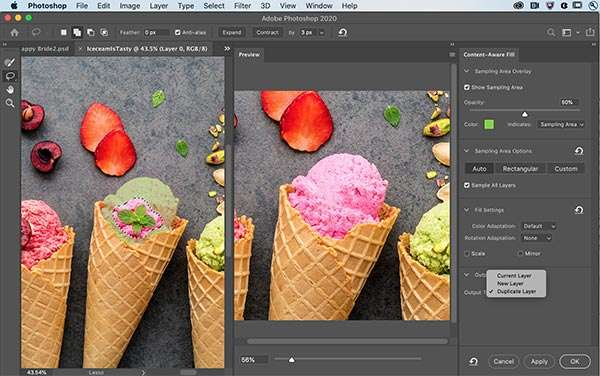 Photoshop: Content-Aware Fill