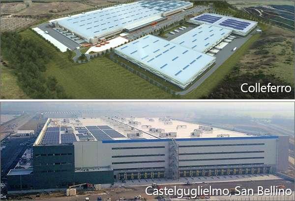I nuovi centri di distribuzione Amazon a Colleferro e Castelguglielmo/San Bellino