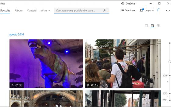 app Foto di Windows 10: modificare progetto video