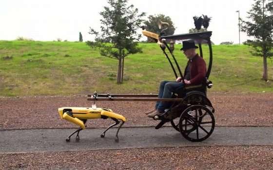 Il robot Spot di Boston Dynamics e il risciò