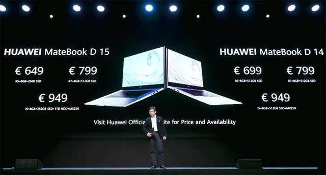 I nuovi laptop Huawei MateBook D 15 e MateBook D 14