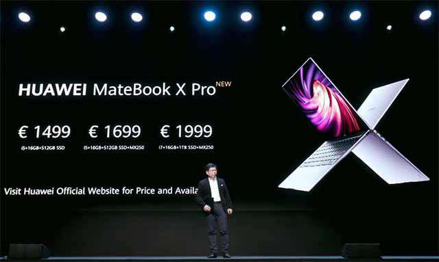 Il nuovo laptop Huawei MateBook X Pro