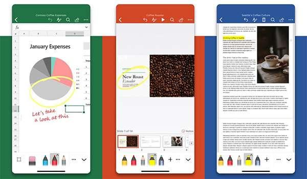 La nuova interfaccia delle applicazioni Office su iOS