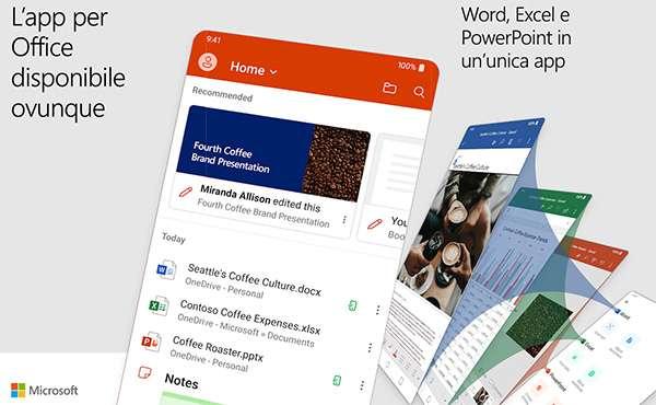 Office su Andorid: Word, Excel e PowerPoint in una sola app