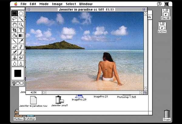 L'interfaccia della prima versione di Photoshop