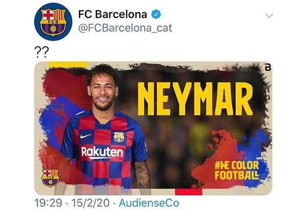 Il falso tweet che annunciava il ritorno di Neymar al Barcellona