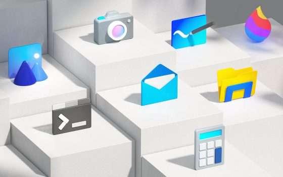 Windows 10: arrivano le nuove icone Fluent Design