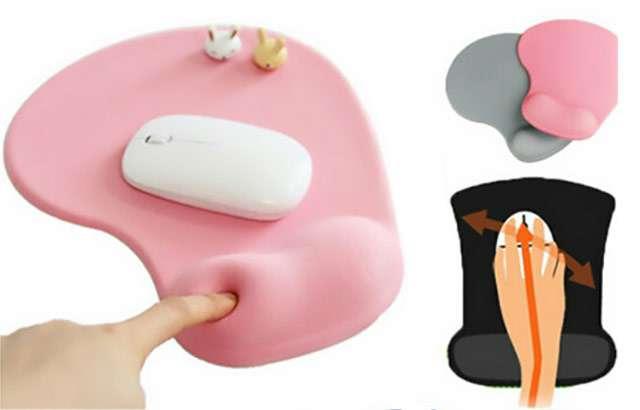 Tappetino mouse ergonomico con poggiapolso in gel