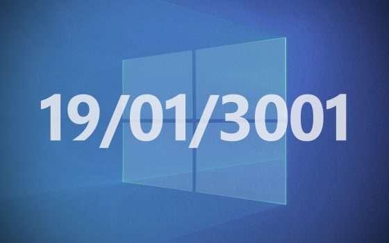 Windows 10: il bug Y3K colpirà i PC nel 3001