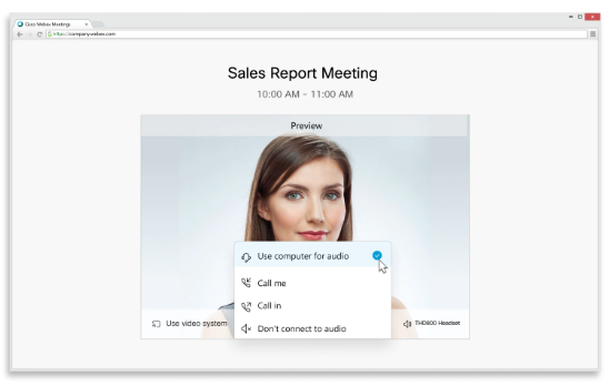 Audio Cisco Webex Meetings