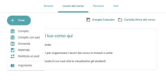 Google Classroom lavori