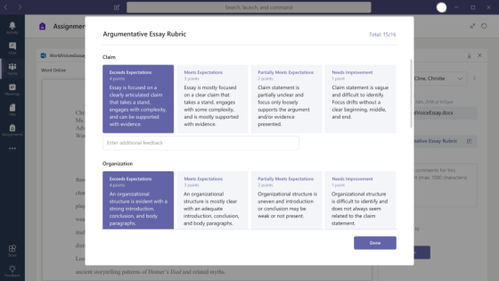 Microsoft Teams for educational