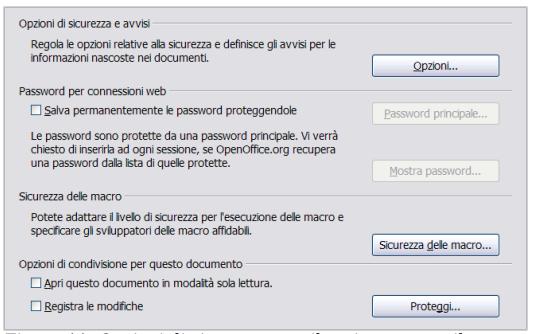 Sicurezza Open Office