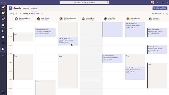 L'applicazione Booking per Microsoft Teams