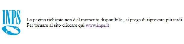 Errore sul portale INPS